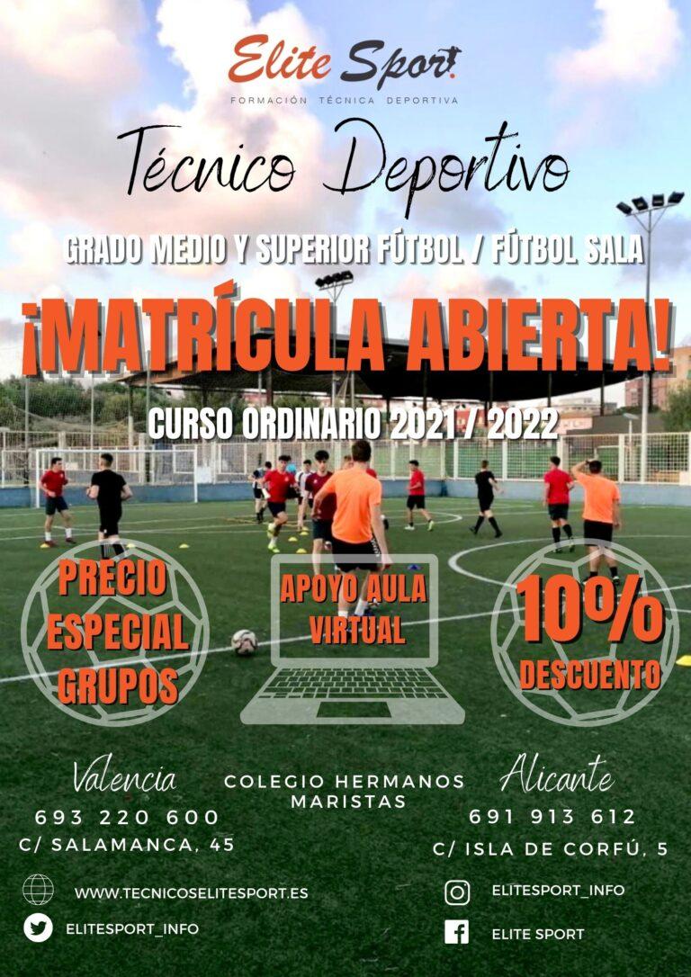 Curso 2021-2022 Técnico Deportivo